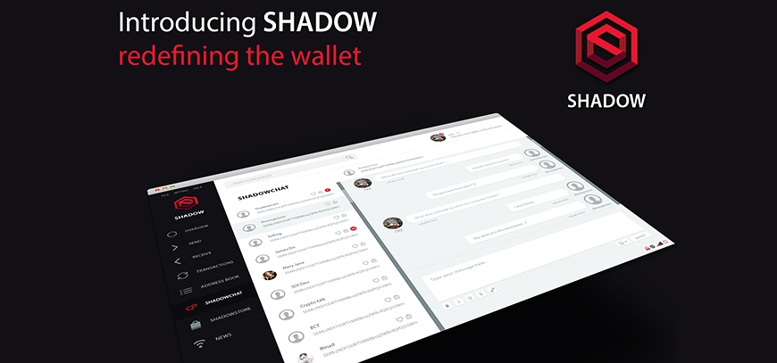 ShadowCash - The First HTML5 Wallet, ShadowSend V.2, Top of Anonymity Release 1.2