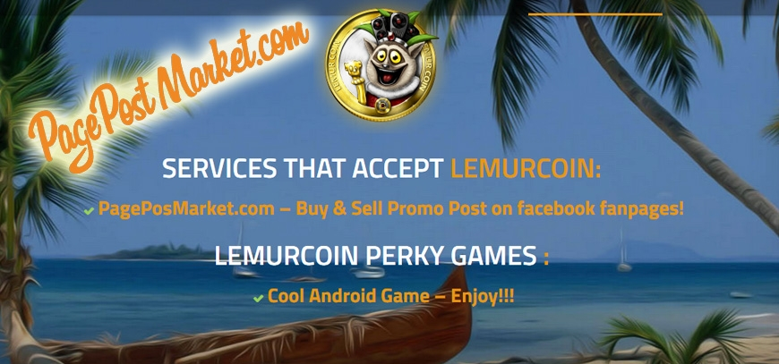 Lemurcoin and the PagePostMarket